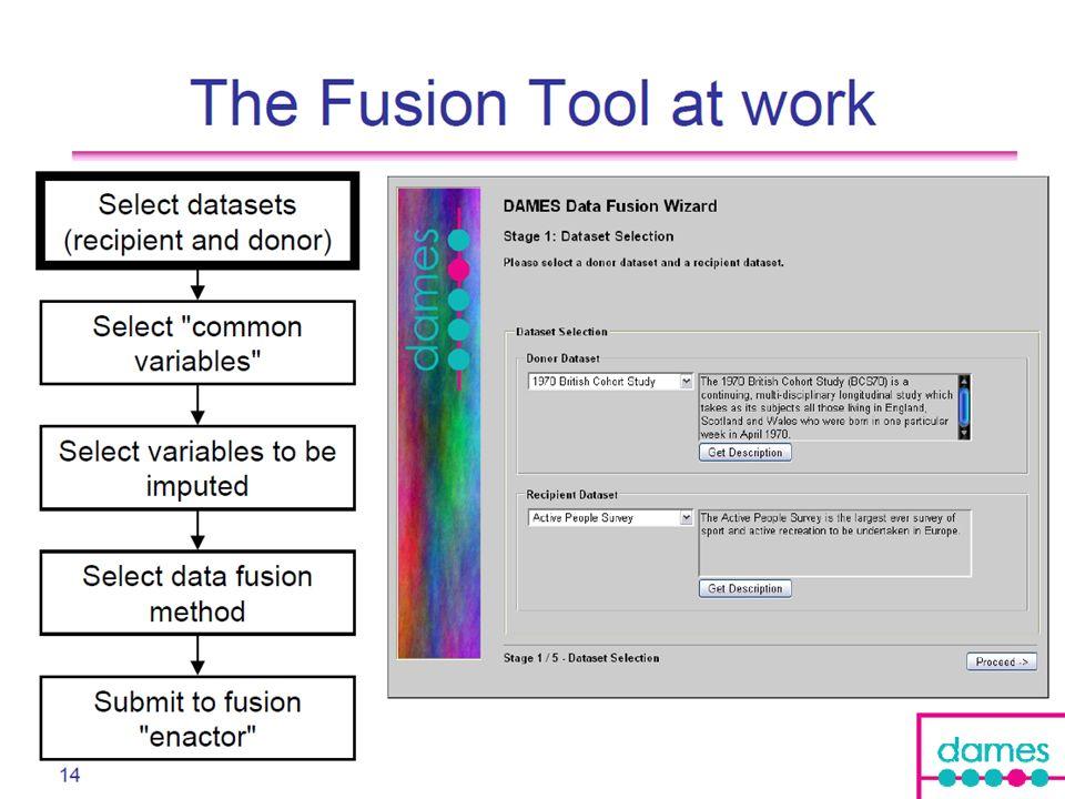 Data fusion tool 15