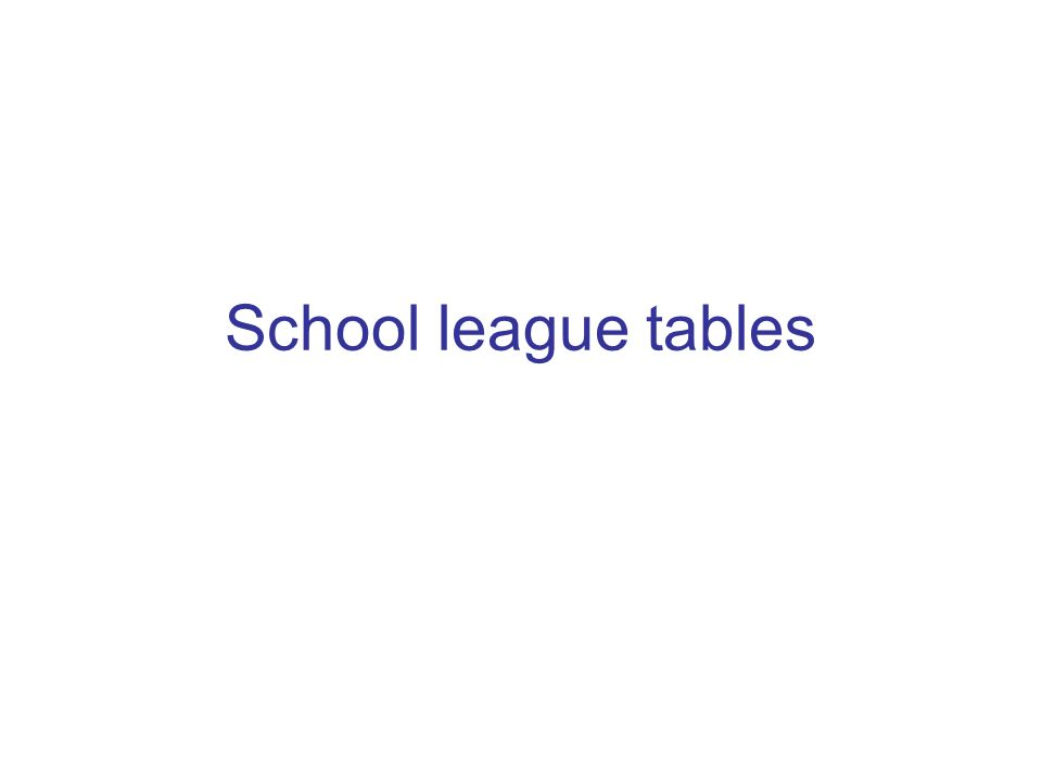 School league tables