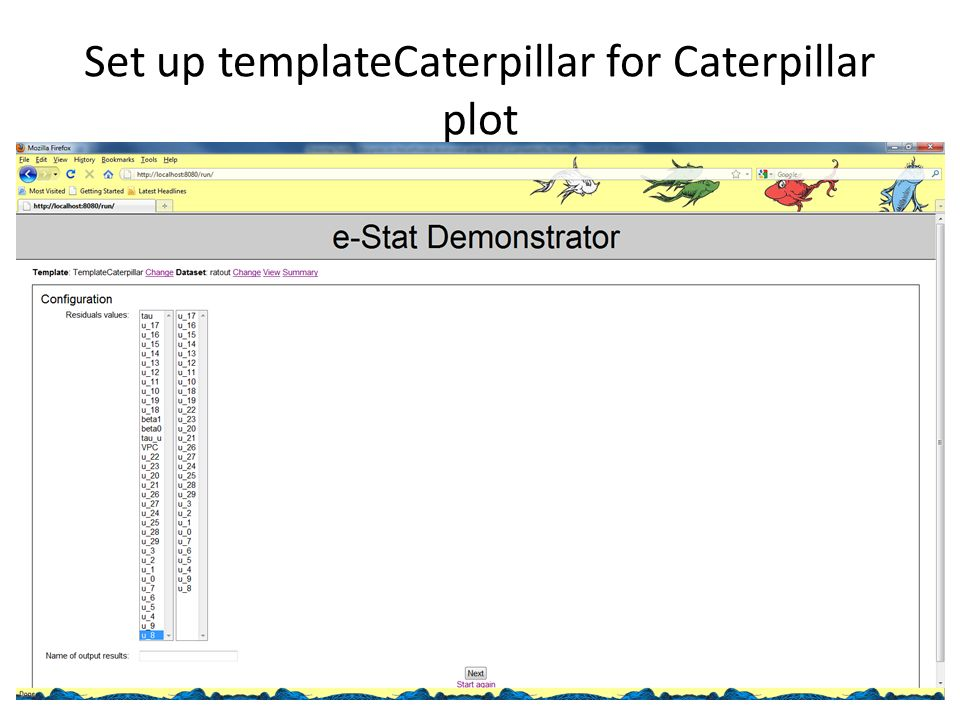 Set up templateCaterpillar for Caterpillar plot