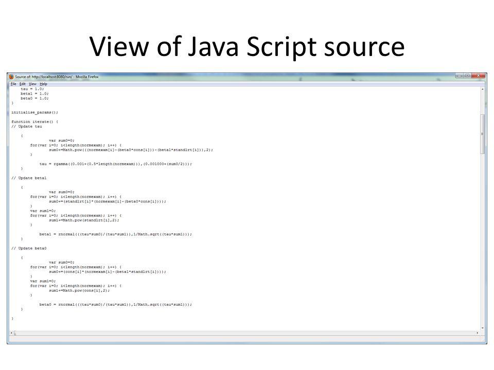 Java Script output