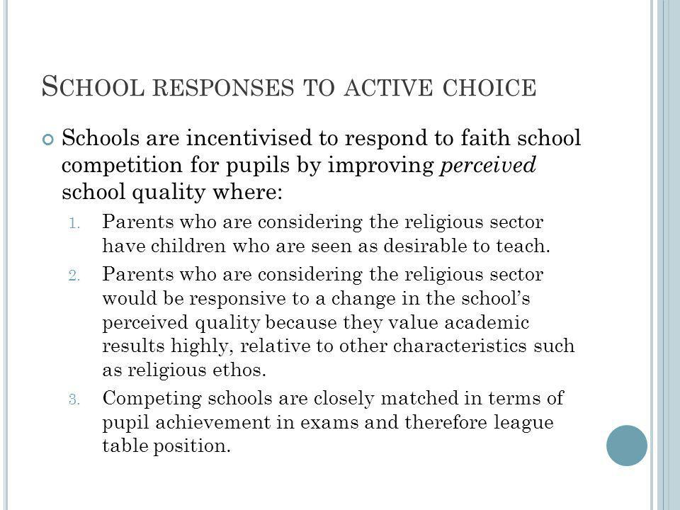 S TRATEGIES TO IMPROVE PERCEIVED QUALITY 1.Effort focused on raising pupil achievement at GCSE 2.