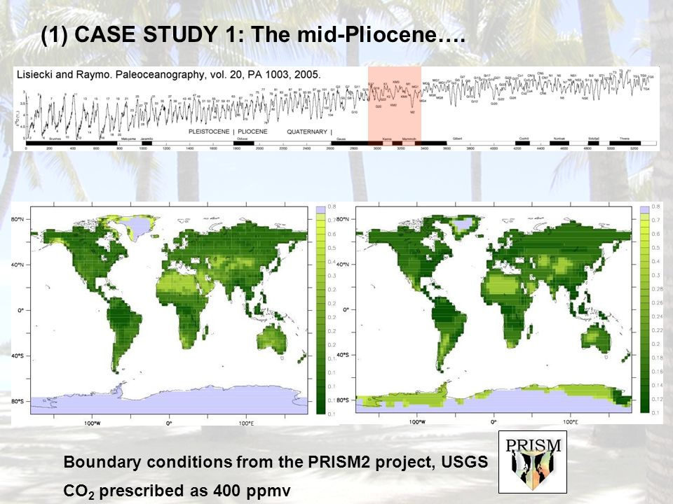 (1) CASE STUDY 1: The mid-Pliocene….