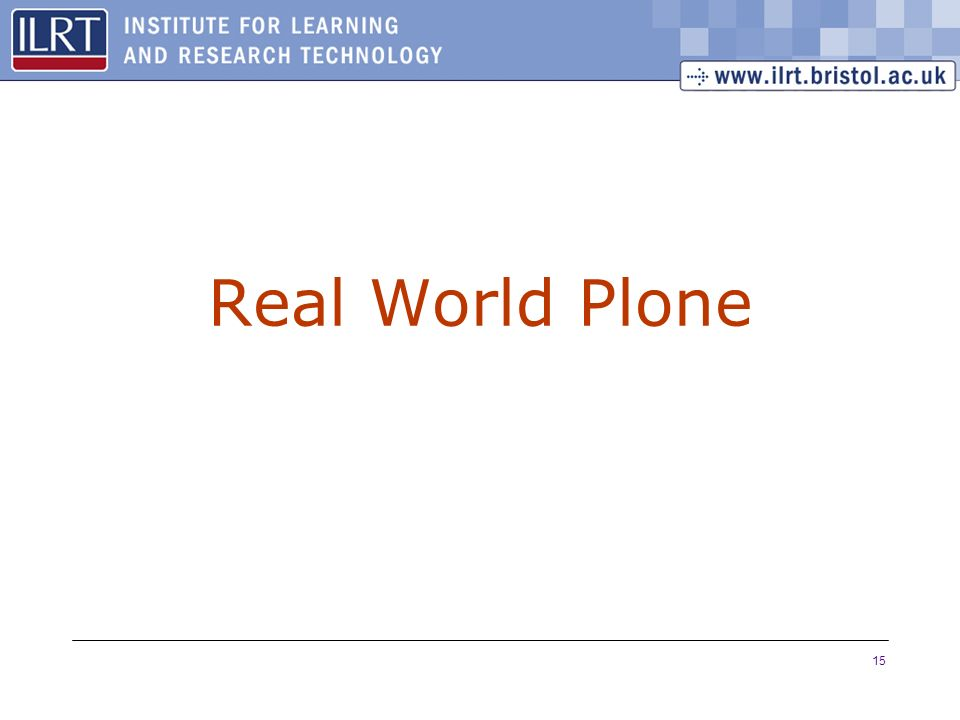 15 Real World Plone