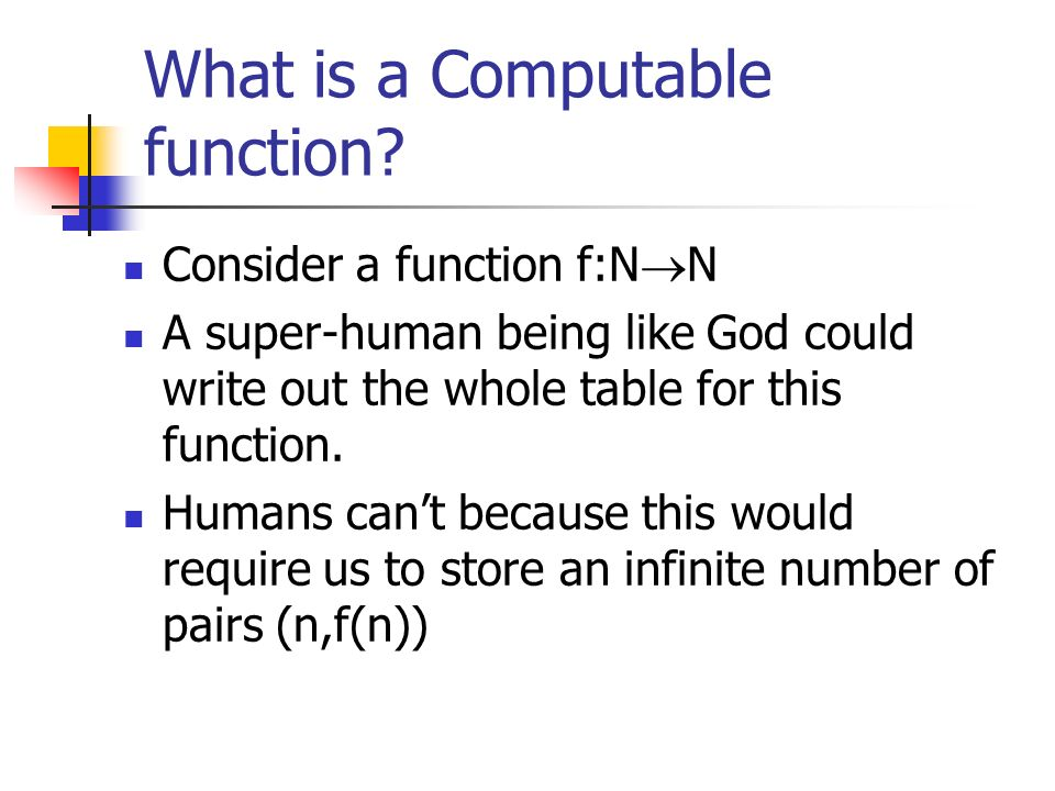 What is a Computable function.