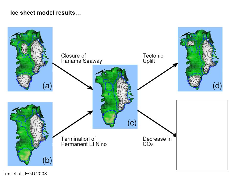 Lunt et al., EGU 2008 Ice sheet model results…