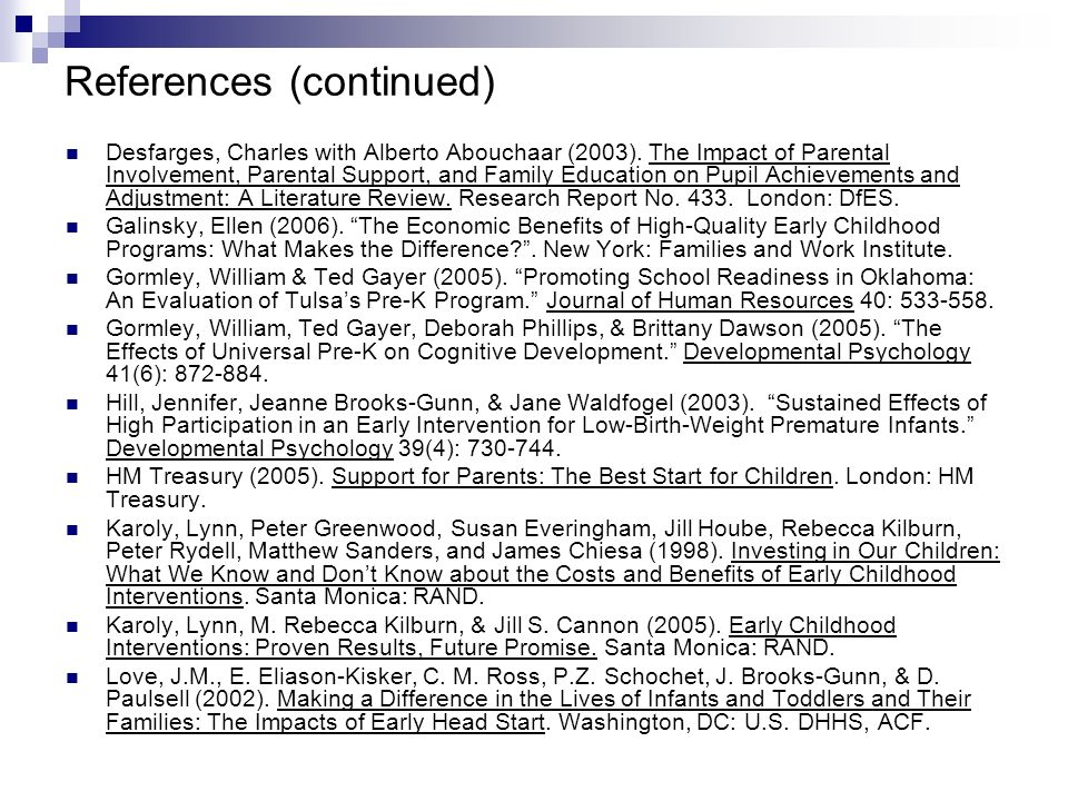 References (continued) Desfarges, Charles with Alberto Abouchaar (2003).