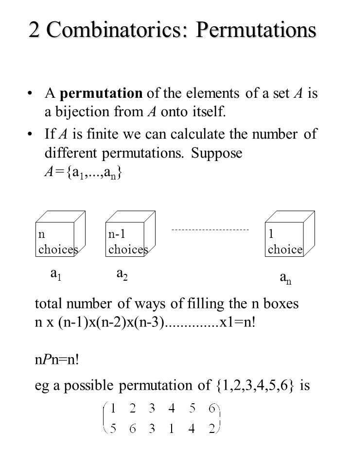Composition of Permutations If :A A and :A A are permutations of A then the composition or product.