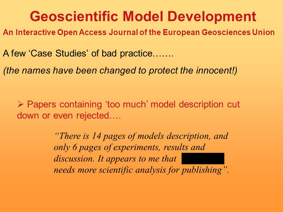Geoscientific Model Development An Interactive Open Access Journal of the European Geosciences Union Advisory Board: Executive Editors: Topical Editors: Europe (17) North America (9) Asia (3) Australasia (2) Garry Clarke, Paul Crutzen, John Shepherd, Carl Wunsch Dan Lunt, James Annan, Julia Hargreaves, Ian Rutt, Rolf Sander Atmospheric Sciences: Boucher, Grewe, Hazeleger, Jöckel Biogeosciences: Ridgwell Climate and Earth System Modelling: Banks, Goose, Kawamiya, Lawrence, Marti, Otto-Bliesner Cryosphere: Huybrechts, Ritz Hydrology: Bates, Coe Numerical Methods: Sandu, Tobis Oceanography: Roberts Solar-terrestrial Science: Koller Solid Earth: Gross, Muhlhaus, Yuen