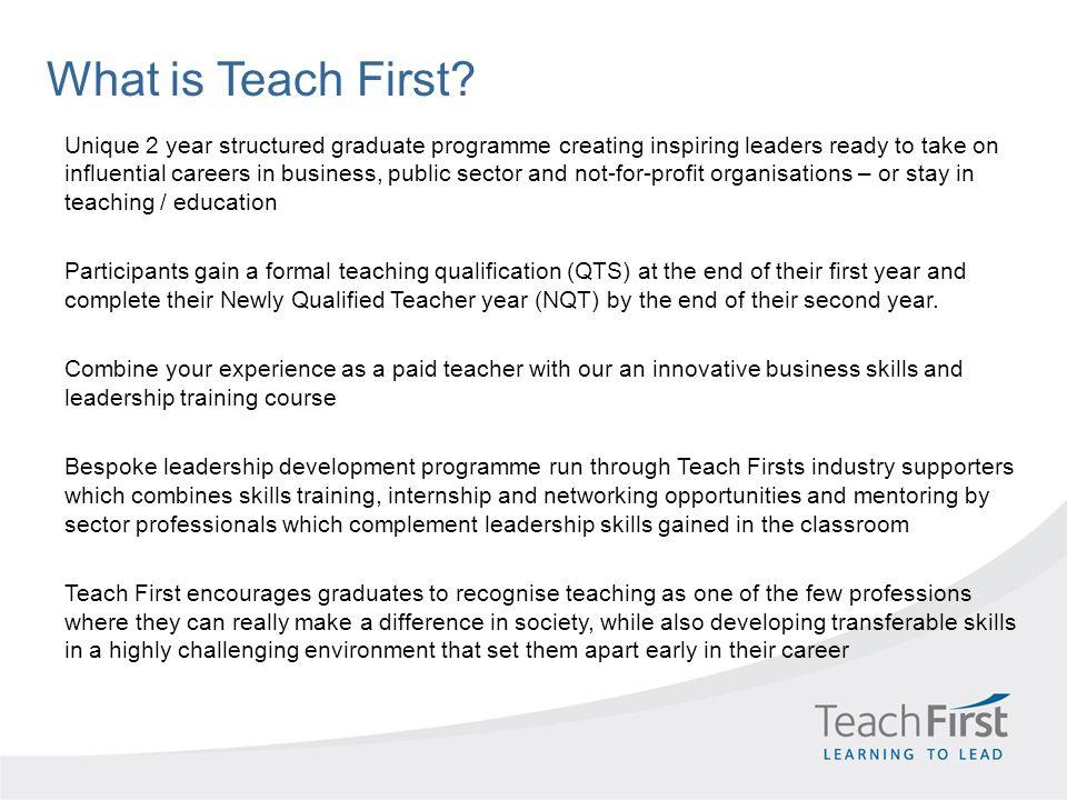 What is Teach First.
