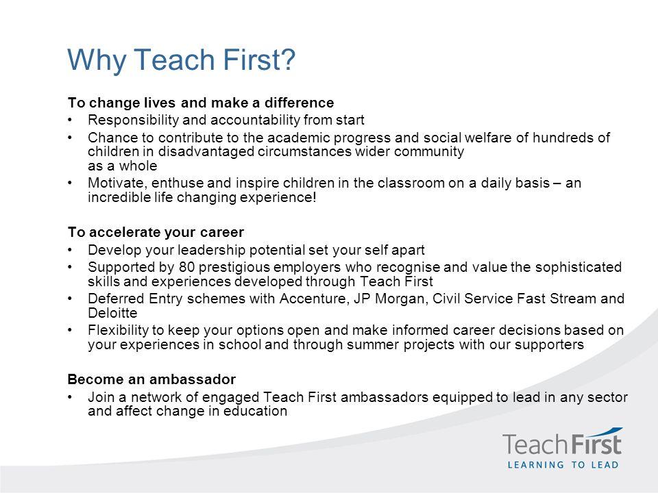 Why Teach First.