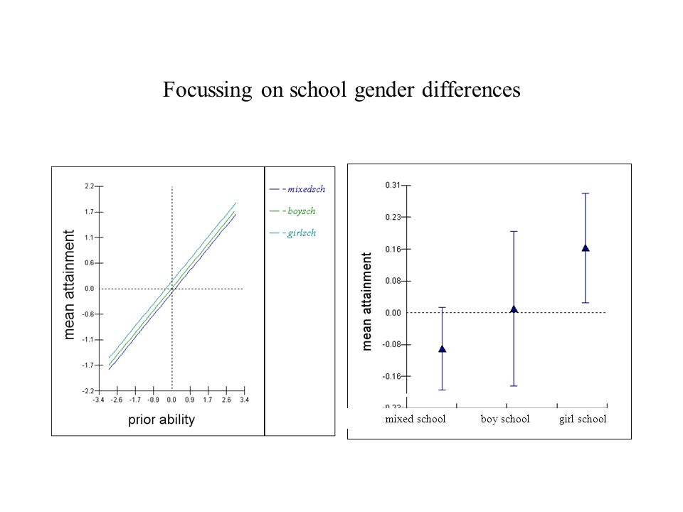 Focussing on school gender differences mixed school boy school girl school