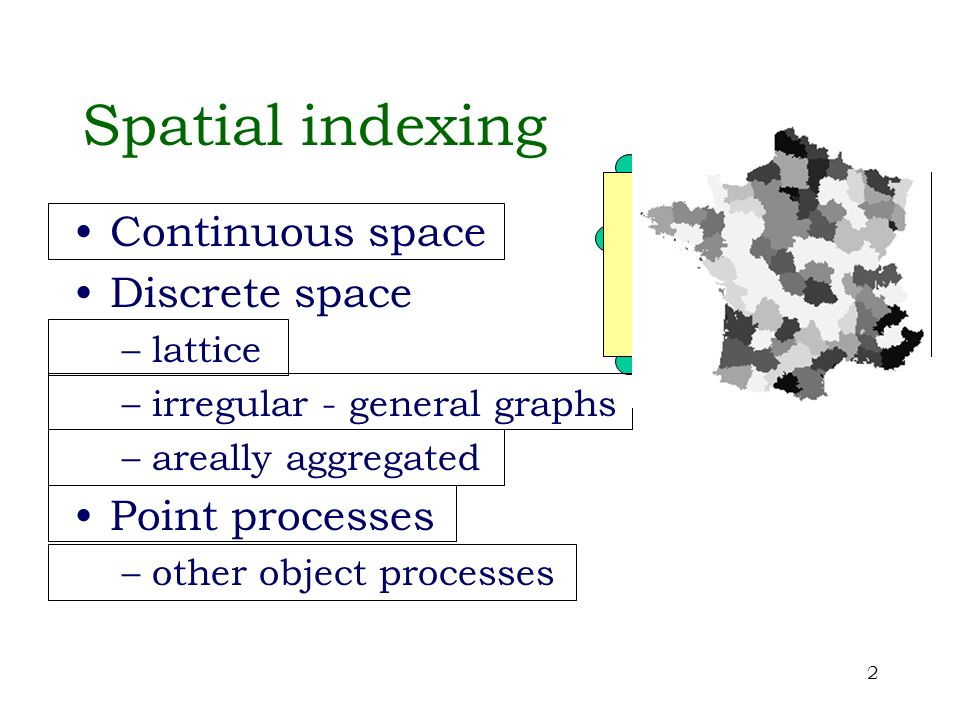 13 Conditional independence In model specification, spatial context often rules out directional dependence X 20 X 21 X 22 X 23 X 24 X 00 X 01 X 02 X 03 X 04 X 10 X 11 X 12 X 13 X 14