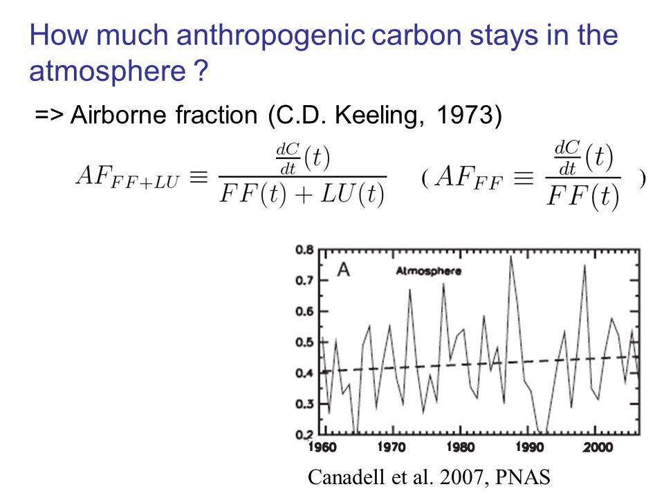 How much anthropogenic carbon stays in the atmosphere .