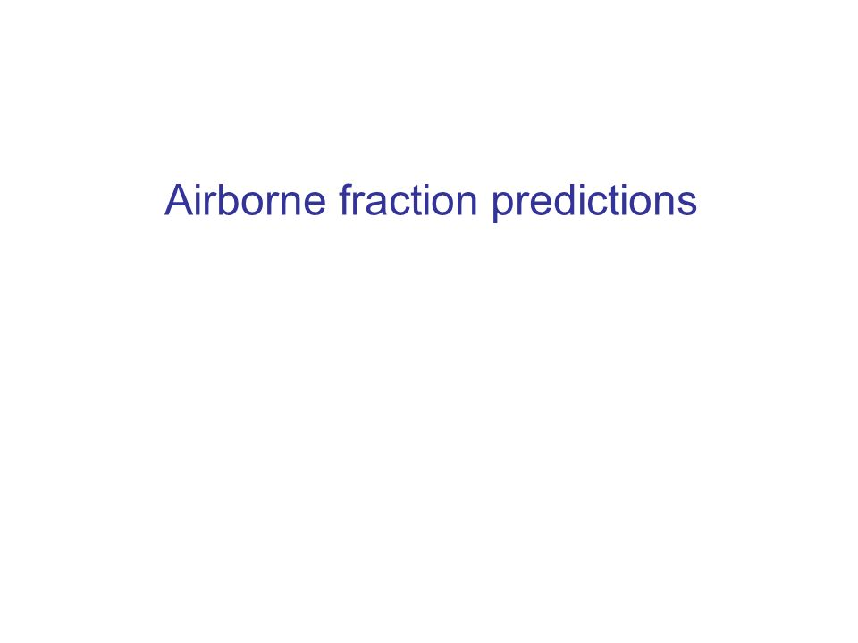 Airborne fraction predictions