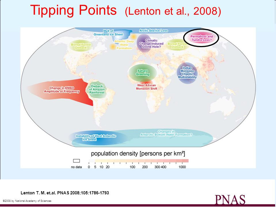Map of potential policy-relevant tipping elements in the climate system, updated from ref.