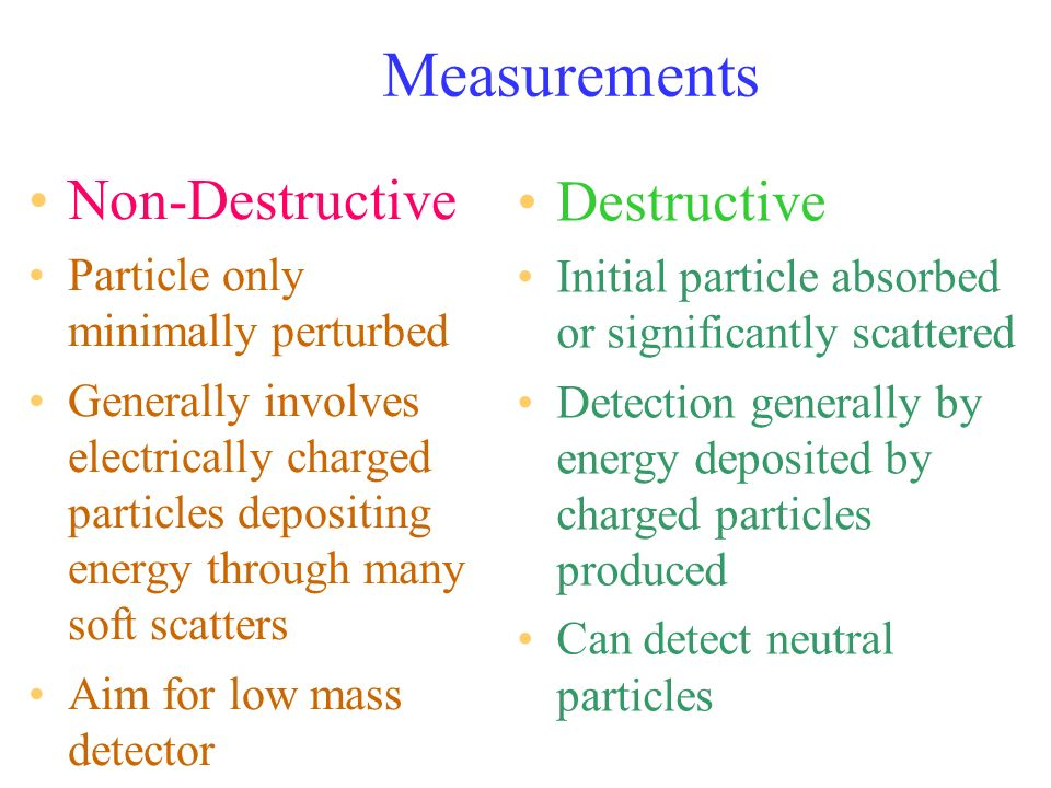Timing Coincidence Where a detector has a high background it is common to use two or more detectors in coincidence –Output from combined detector only if all parts detect a particle.