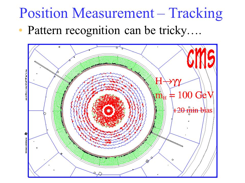 Timing Measurement The time at which a particle passed through a detector can be measured to better than 1ns (10 -9 s) –Scintillator tends to be good ( 100ps ) Can measure velocity of particle –time-of-flight (ToF ) from interaction to detector.