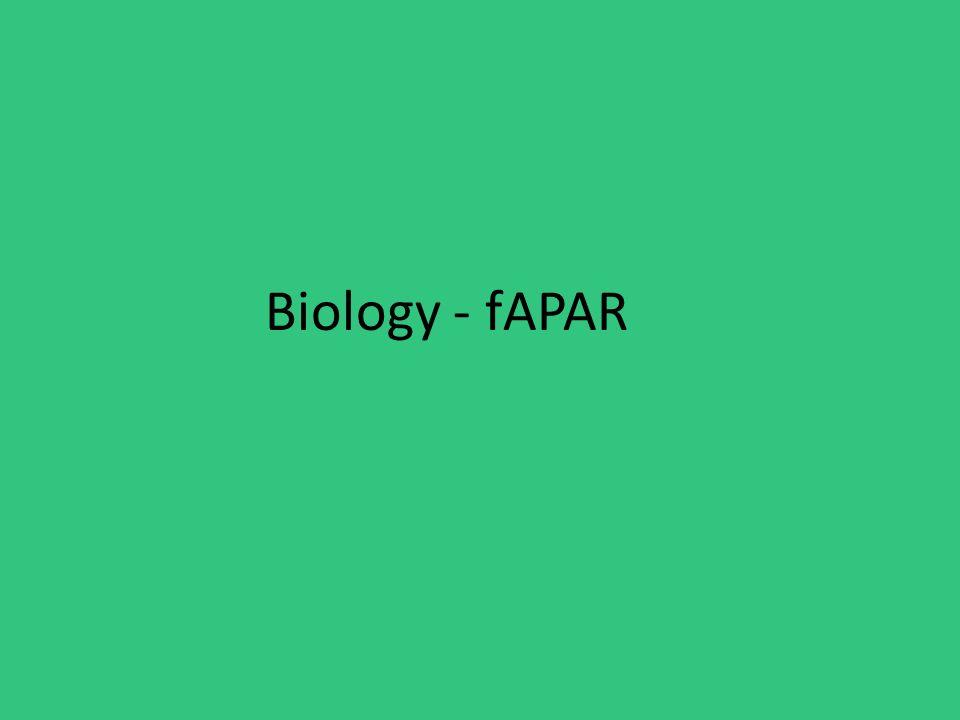 Biology - fAPAR