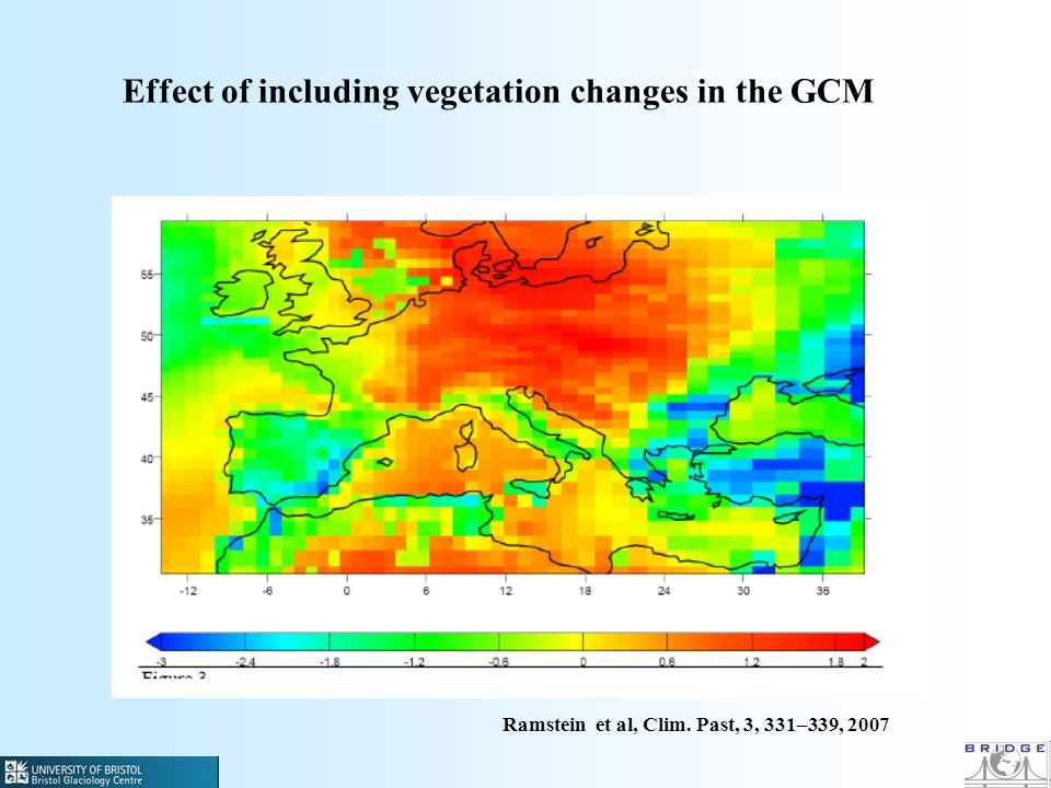 Effect of including vegetation changes in the GCM Ramstein et al, Clim. Past, 3, 331–339, 2007