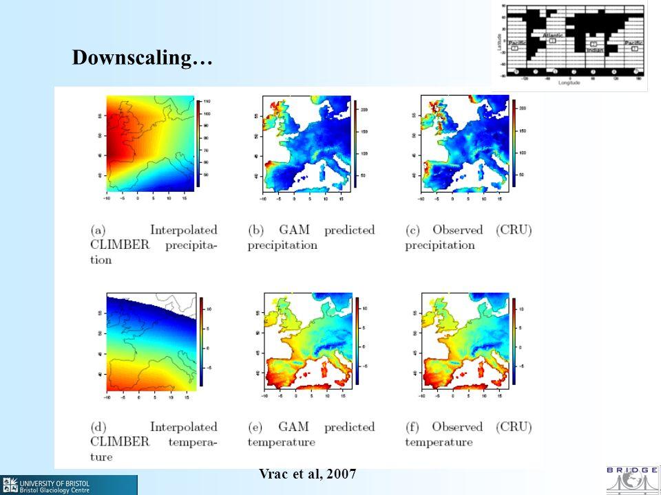 Downscaling… Vrac et al, 2007