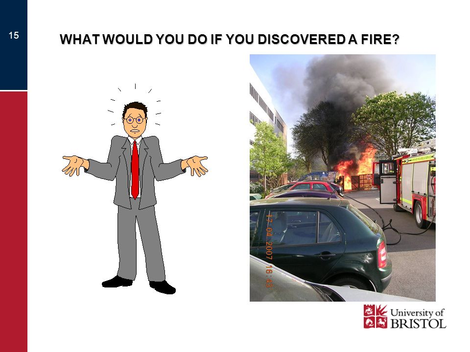 15 WHAT WOULD YOU DO IF YOU DISCOVERED A FIRE?