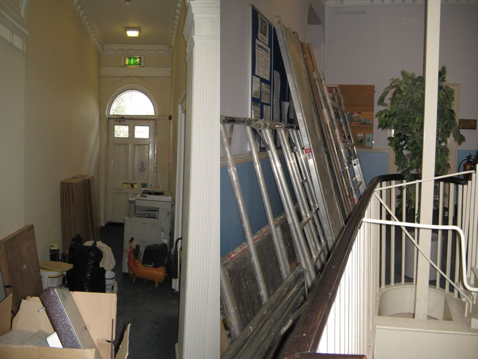 26 Means of Escape Can fire doors ever be wedged or held open? Have fire doors, installed to help prevent the spread of smoke, fumes and fire Allow a