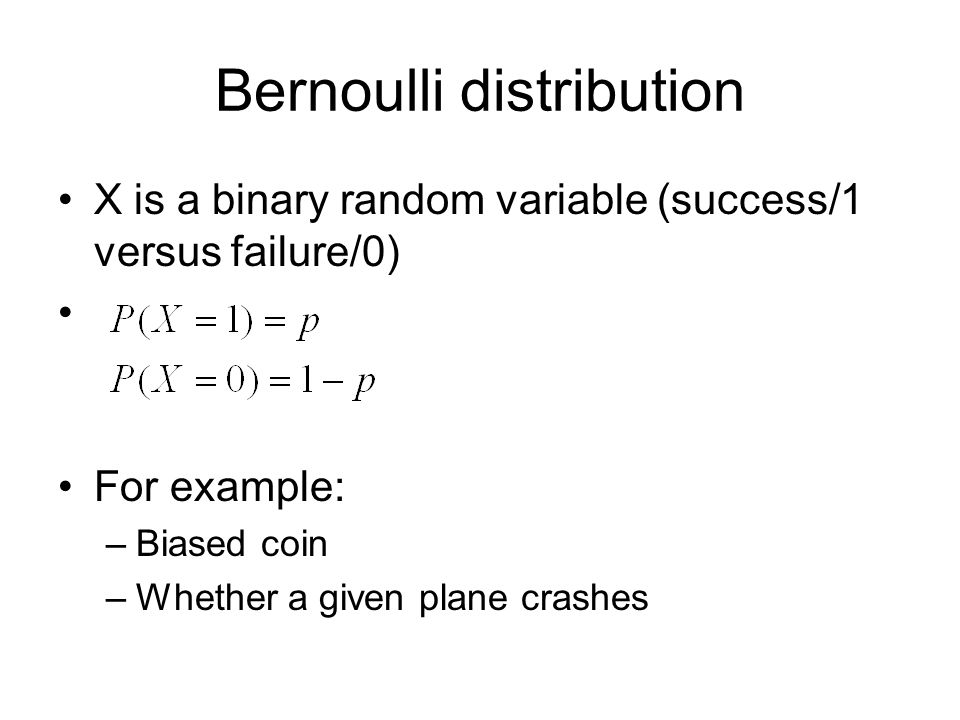 Geometric distribution X is the number of Bernoulli experiments to the first success, where the success probability is p Note: as required