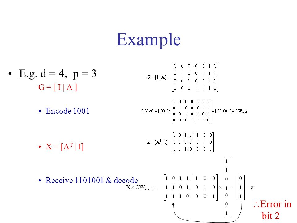 Example E.g.