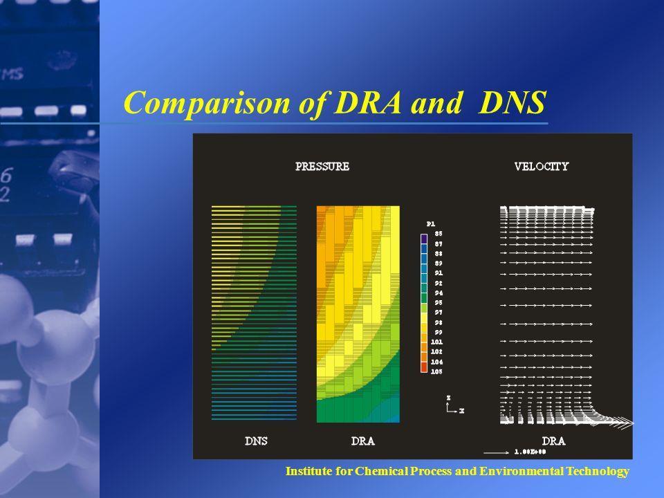 Institute for Chemical Process and Environmental Technology Comparison of DRA and DNS