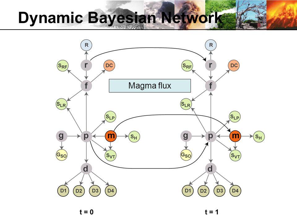 Dynamic Bayesian Network Magma flux