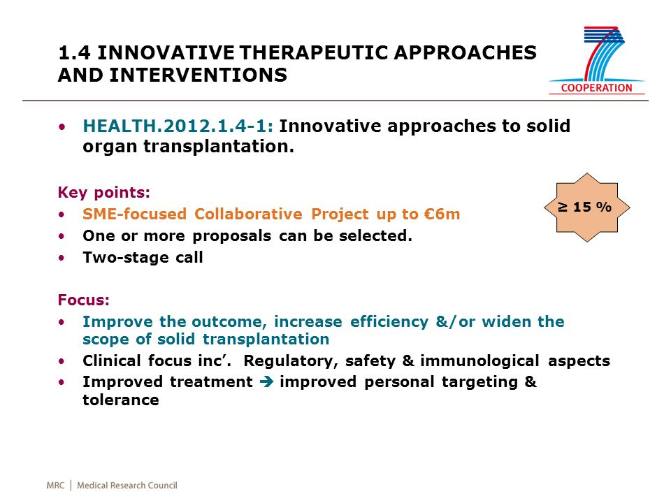 HEALTH.2012.1.4-1: Innovative approaches to solid organ transplantation.