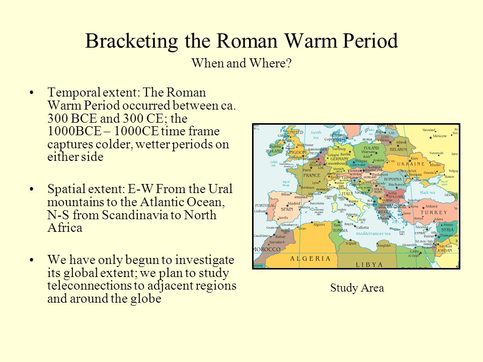 Bracketing the Roman Warm Period When and Where.