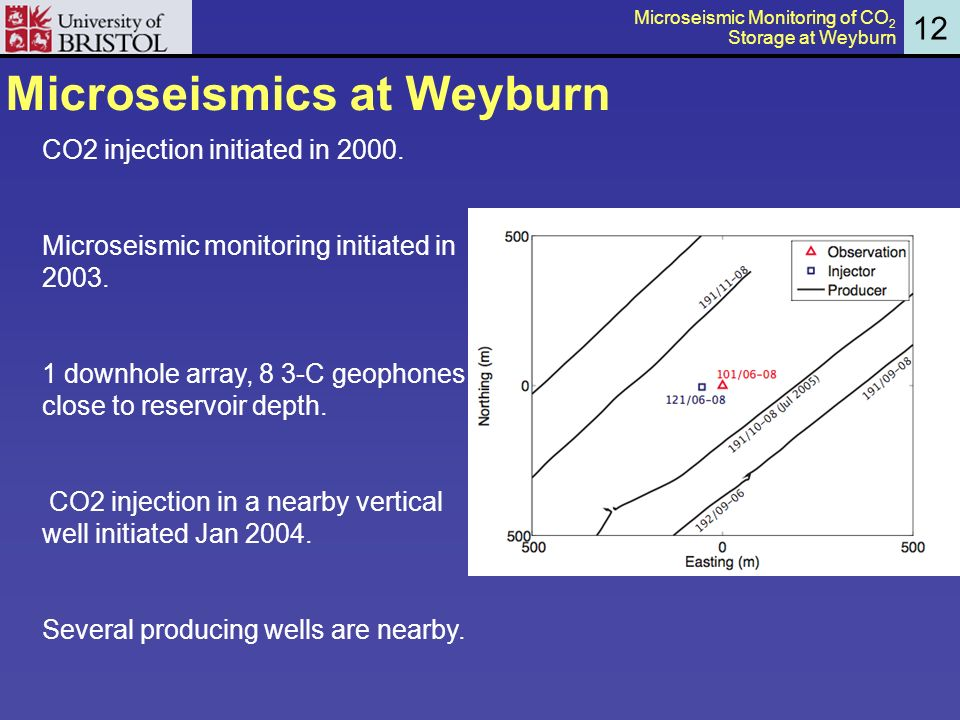 Microseismics at Weyburn 12 CO2 injection initiated in 2000.