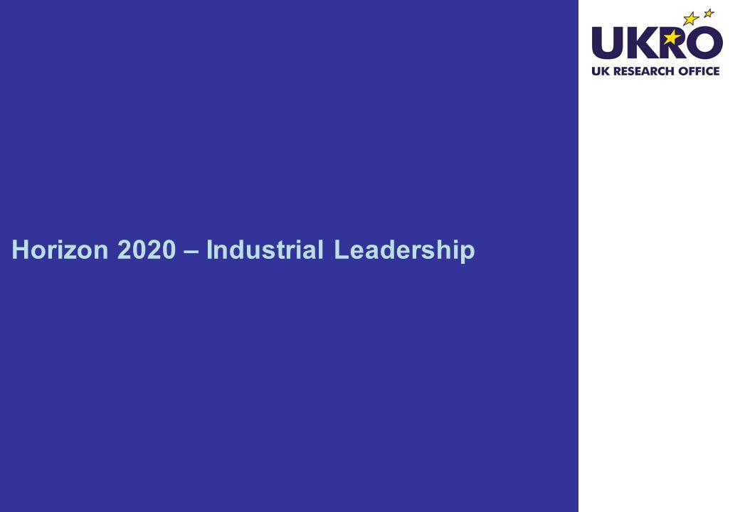 Horizon 2020 – Industrial Leadership