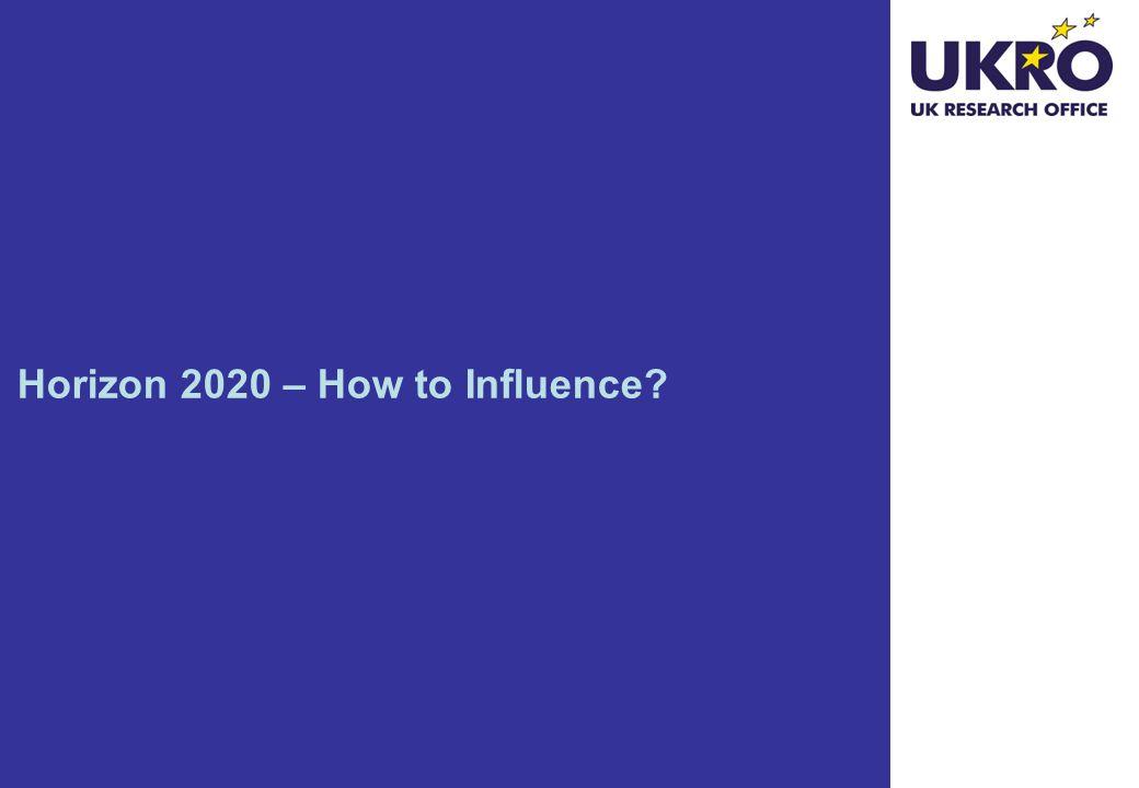 Horizon 2020 – How to Influence?