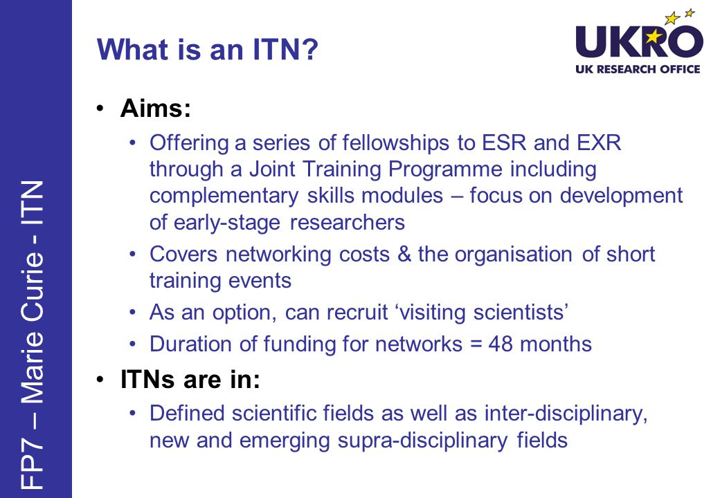 What is an ITN.
