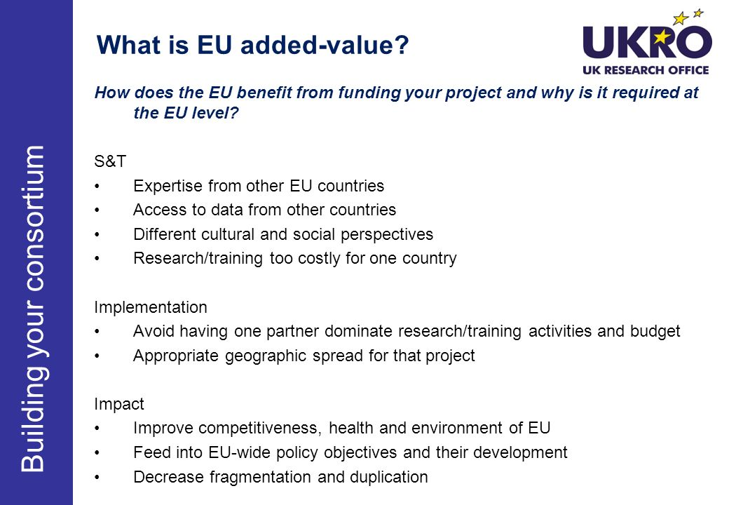 What is EU added-value.