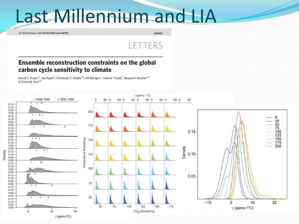Last Millennium and LIA