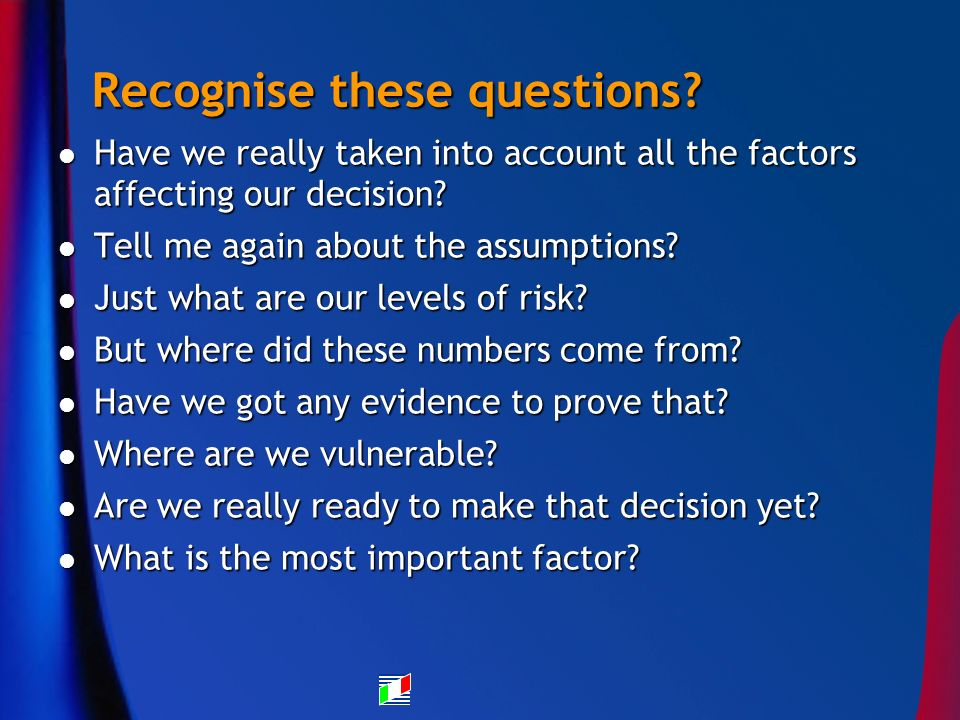 Recognise these questions.