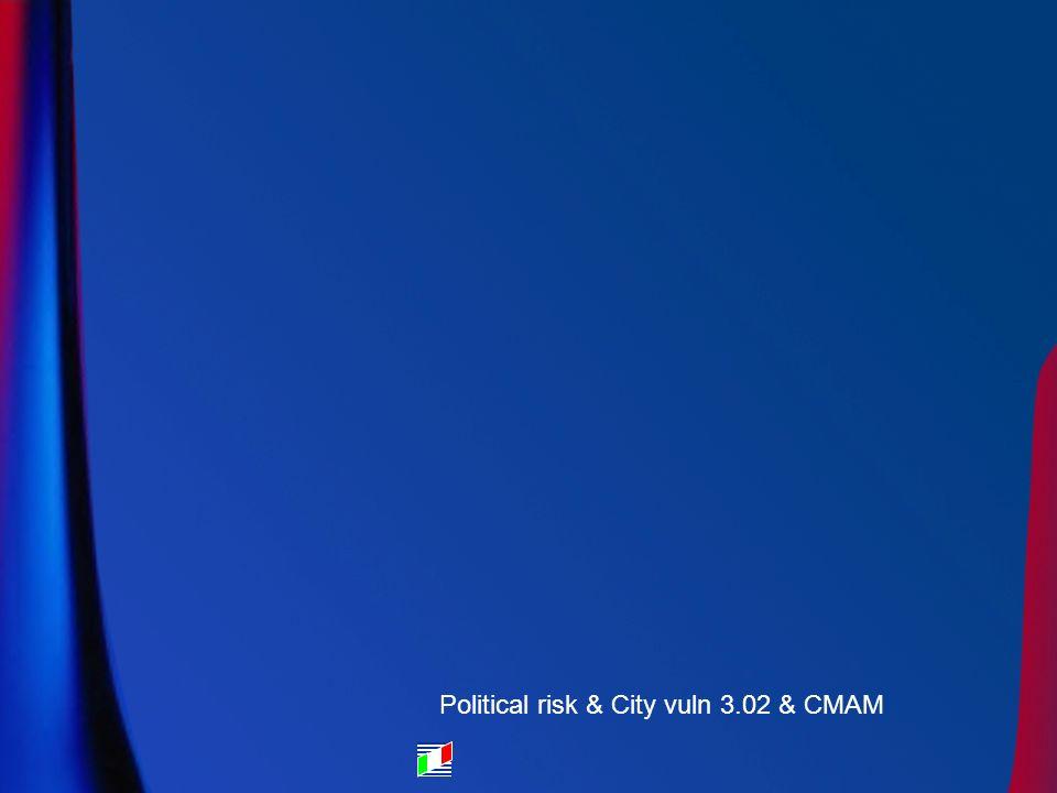 Political risk & City vuln 3.02 & CMAM