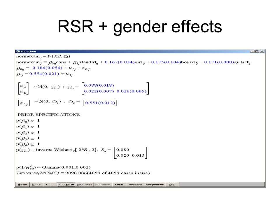 RSR + gender effects