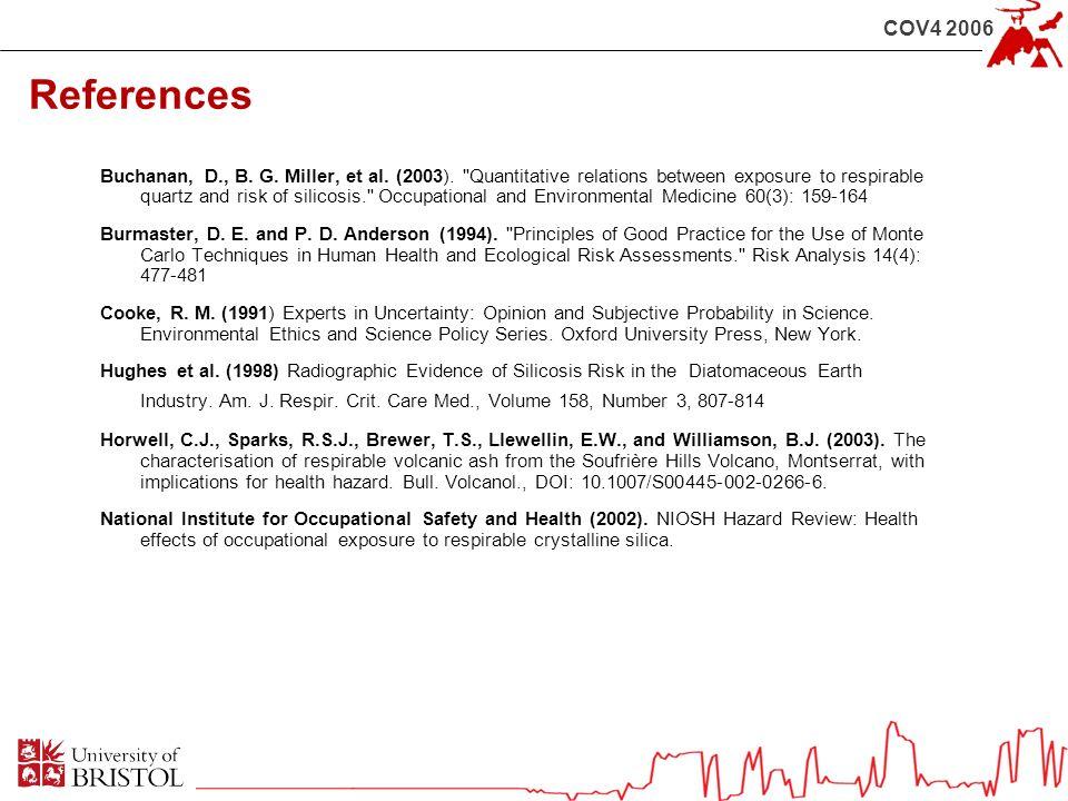 COV4 2006 References Buchanan, D., B. G. Miller, et al. (2003).