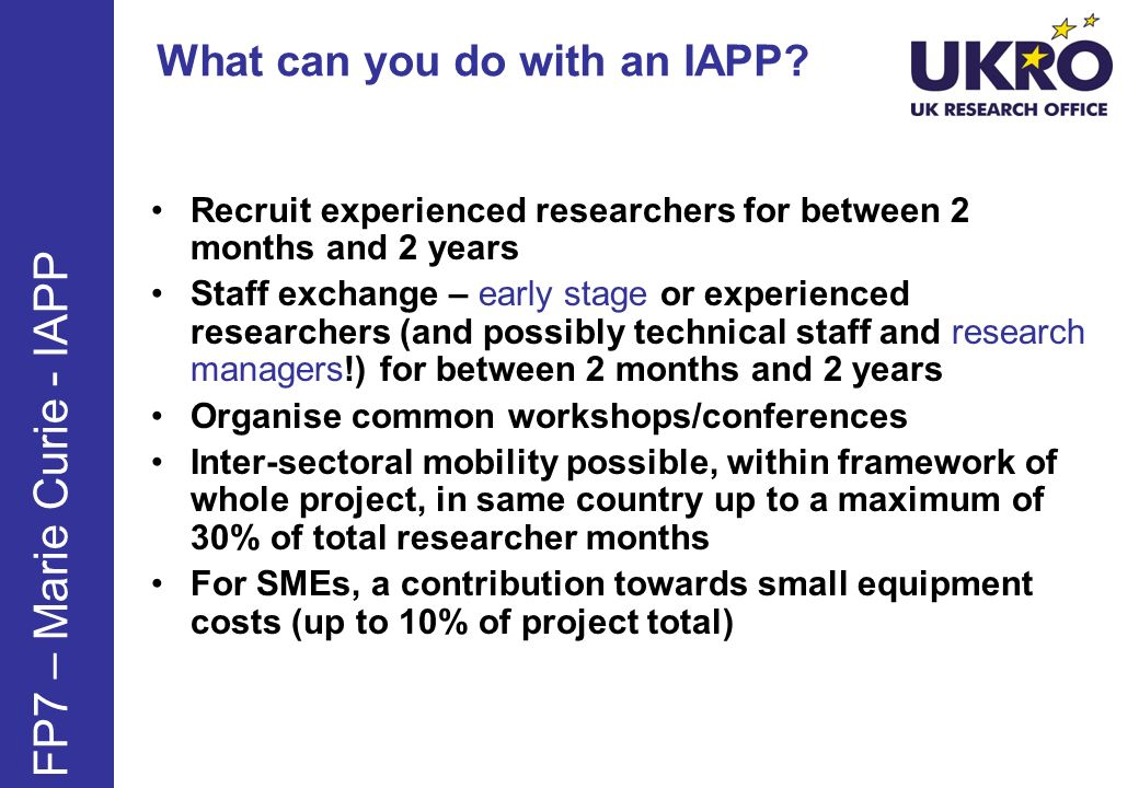 What can you do with an IAPP.