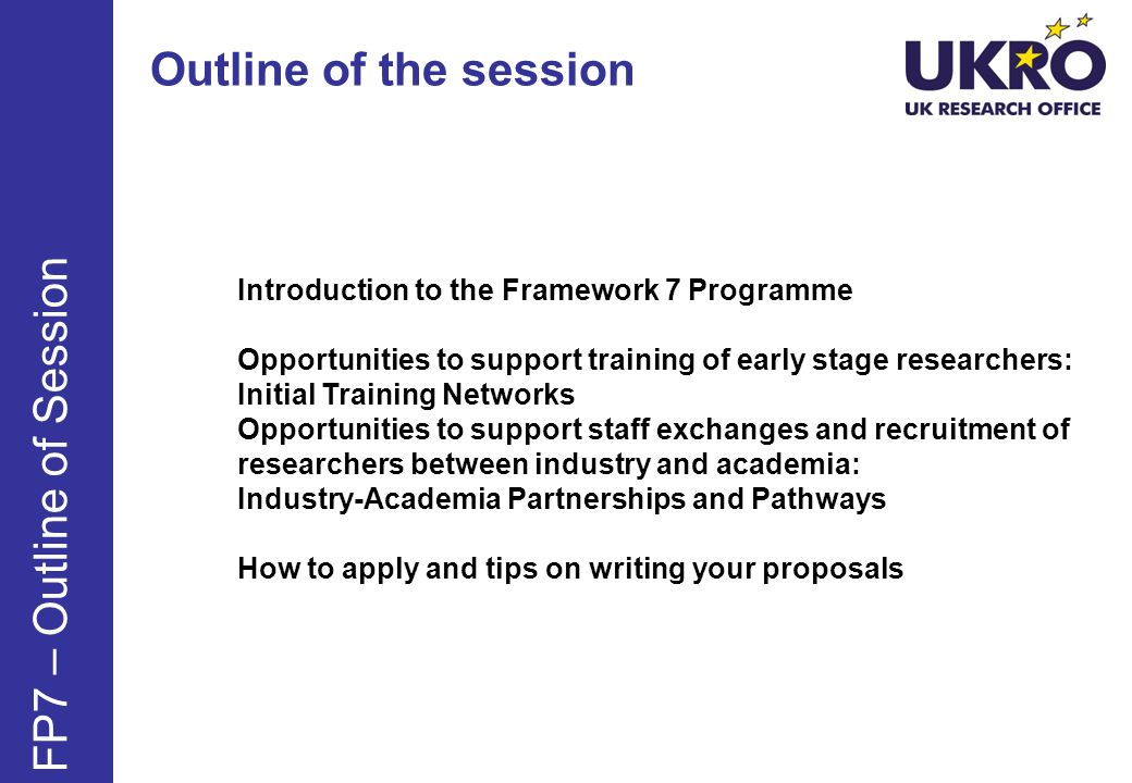 Training criteria Quality of the training programme; Consistency with the research programme Complementary skills offered: Management, Communication, IPR, Ethics, Grant writing, Commercial exploitation of results, Research Policy, entrepreneurship, etc..