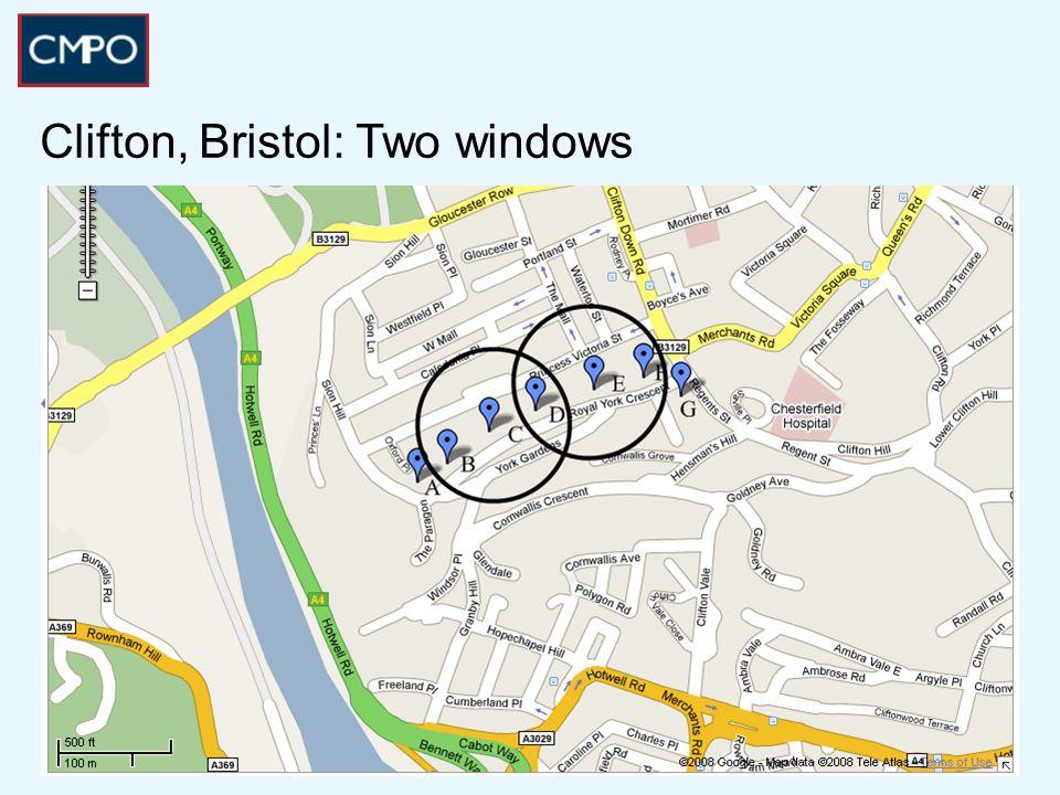 Clifton, Bristol: Two windows