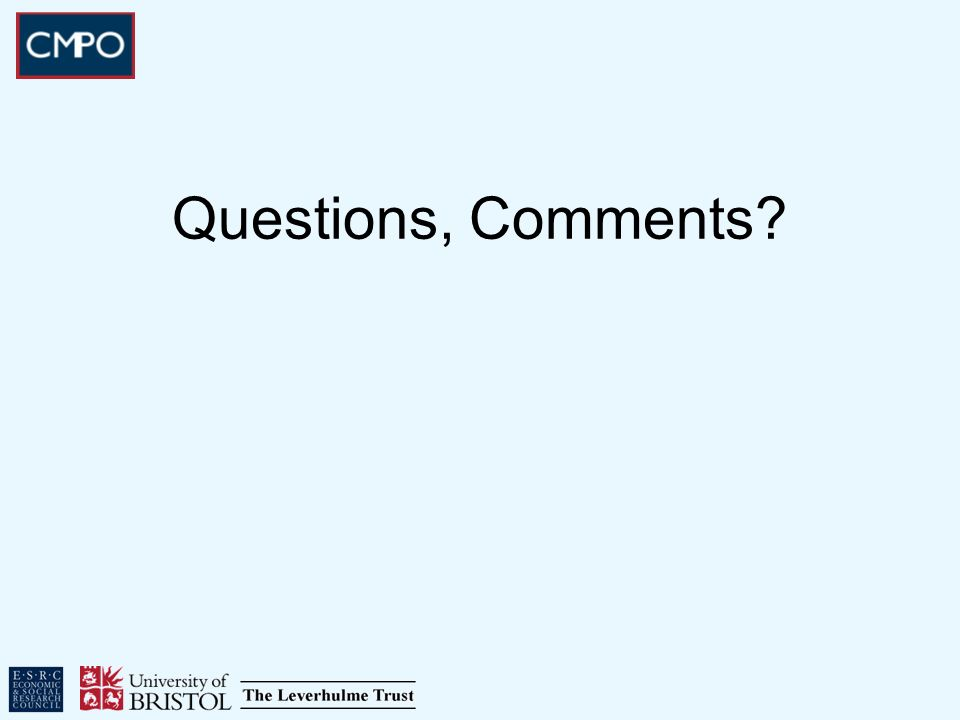 Questions, Comments