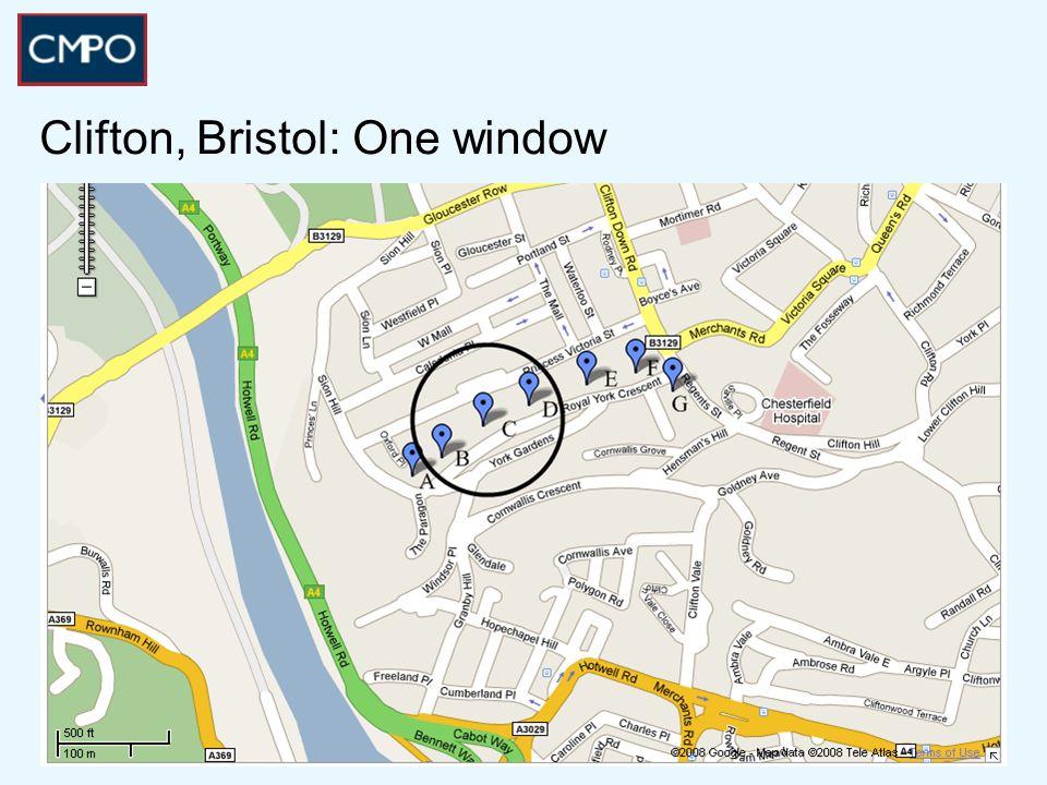 Clifton, Bristol: One window