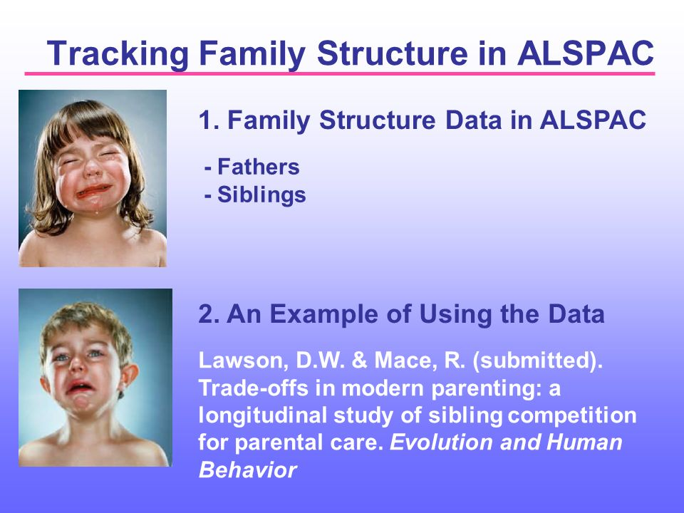 Tracking Family Structure in ALSPAC 1. Family Structure Data in ALSPAC 2.