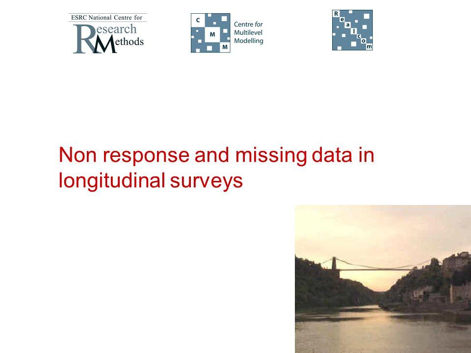 Non response and missing data in longitudinal surveys