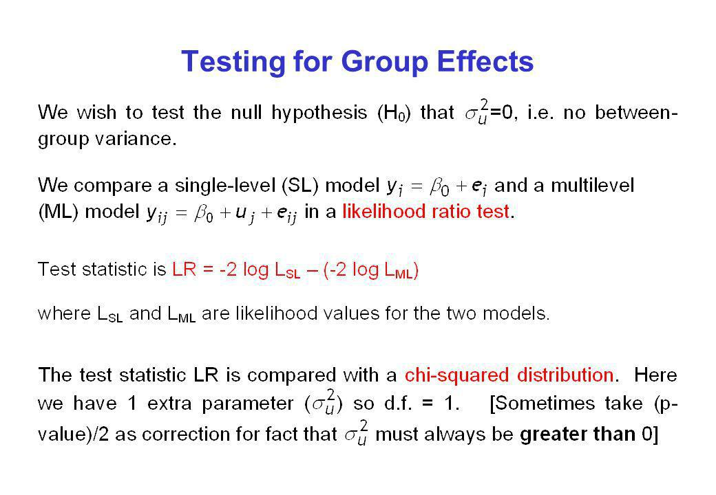 Testing for Group Effects